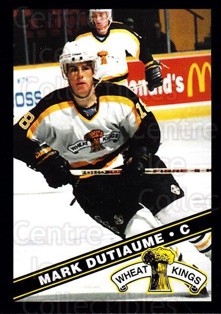 1995-96 Brandon Wheat Kings #14 Mark Dutiaume<br/>1 In Stock - $3.00 each - <a href=https://centericecollectibles.foxycart.com/cart?name=1995-96%20Brandon%20Wheat%20Kings%20%2314%20Mark%20Dutiaume...&quantity_max=1&price=$3.00&code=37911 class=foxycart> Buy it now! </a>