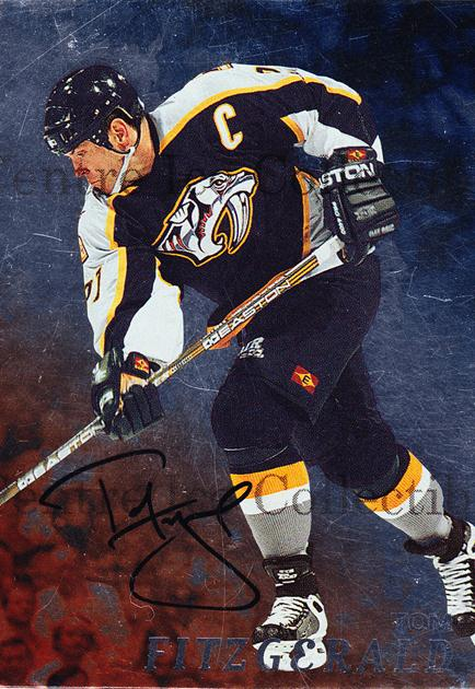 1998-99 Be A Player Auto #73 Tom Fitzgerald<br/>1 In Stock - $3.00 each - <a href=https://centericecollectibles.foxycart.com/cart?name=1998-99%20Be%20A%20Player%20Auto%20%2373%20Tom%20Fitzgerald...&quantity_max=1&price=$3.00&code=379174 class=foxycart> Buy it now! </a>