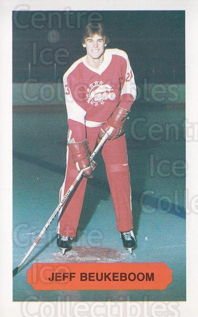 1983-84 Sault Ste. Marie Greyhounds #1 Jeff Beaukeboom<br/>1 In Stock - $3.00 each - <a href=https://centericecollectibles.foxycart.com/cart?name=1983-84%20Sault%20Ste.%20Marie%20Greyhounds%20%231%20Jeff%20Beaukeboom...&quantity_max=1&price=$3.00&code=379718 class=foxycart> Buy it now! </a>