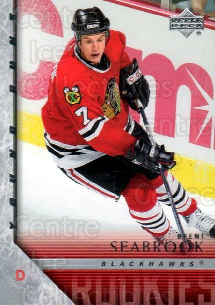 2005-06 Upper Deck #209 Brent Seabrook<br/>1 In Stock - $10.00 each - <a href=https://centericecollectibles.foxycart.com/cart?name=2005-06%20Upper%20Deck%20%23209%20Brent%20Seabrook...&quantity_max=1&price=$10.00&code=379855 class=foxycart> Buy it now! </a>
