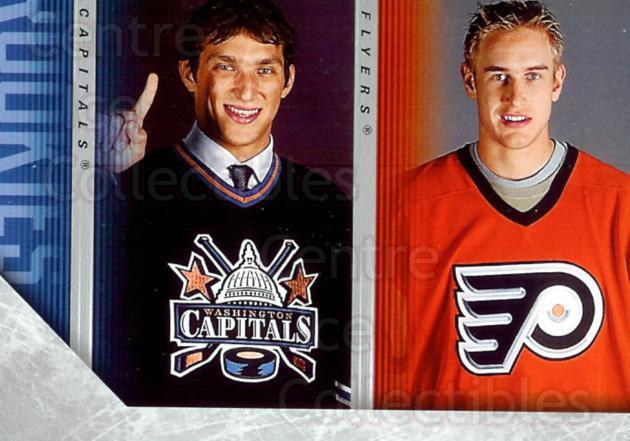 2005-06 Upper Deck #487 Jeff Carter, Alexander Ovechkin, Checklist<br/>1 In Stock - $5.00 each - <a href=https://centericecollectibles.foxycart.com/cart?name=2005-06%20Upper%20Deck%20%23487%20Jeff%20Carter,%20Al...&price=$5.00&code=379877 class=foxycart> Buy it now! </a>