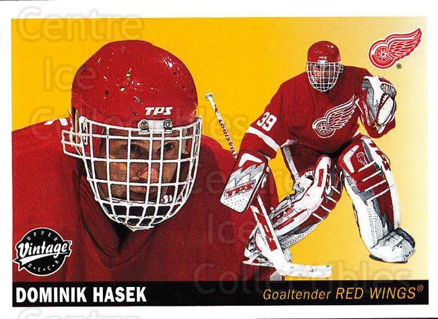 2002-03 UD Vintage #95 Dominik Hasek<br/>2 In Stock - $1.00 each - <a href=https://centericecollectibles.foxycart.com/cart?name=2002-03%20UD%20Vintage%20%2395%20Dominik%20Hasek...&quantity_max=2&price=$1.00&code=380036 class=foxycart> Buy it now! </a>