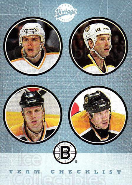 2002-03 UD Vintage #263 Glen Murray, Sergei Samsonov, Joe Thornton, Nick Boynton, Checklist<br/>1 In Stock - $2.00 each - <a href=https://centericecollectibles.foxycart.com/cart?name=2002-03%20UD%20Vintage%20%23263%20Glen%20Murray,%20Se...&quantity_max=1&price=$2.00&code=380051 class=foxycart> Buy it now! </a>