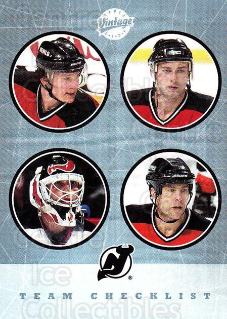 2002-03 UD Vintage #278 Martin Brodeur, Brian Rafalski, Scott Stevens, Patrik Elias, Checklist<br/>1 In Stock - $2.00 each - <a href=https://centericecollectibles.foxycart.com/cart?name=2002-03%20UD%20Vintage%20%23278%20Martin%20Brodeur,...&quantity_max=1&price=$2.00&code=380066 class=foxycart> Buy it now! </a>