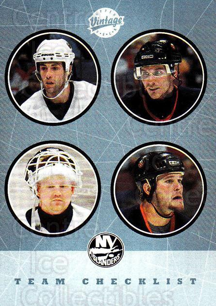 2002-03 UD Vintage #279 Chris Osgood, Mike Peca, Alexei Yashin, Eric Cairns, Checklist<br/>1 In Stock - $2.00 each - <a href=https://centericecollectibles.foxycart.com/cart?name=2002-03%20UD%20Vintage%20%23279%20Chris%20Osgood,%20M...&quantity_max=1&price=$2.00&code=380067 class=foxycart> Buy it now! </a>