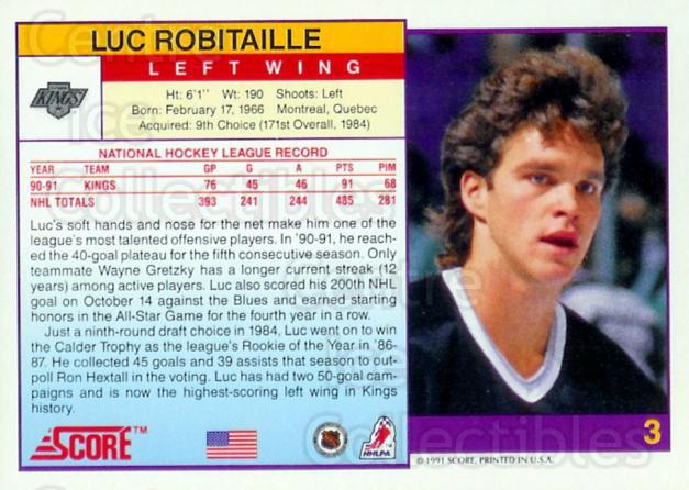 1991-92 Score Promos USA #3 Luc Robitaille<br/>25 In Stock - $5.00 each - <a href=https://centericecollectibles.foxycart.com/cart?name=1991-92%20Score%20Promos%20USA%20%233%20Luc%20Robitaille...&quantity_max=25&price=$5.00&code=380091 class=foxycart> Buy it now! </a>