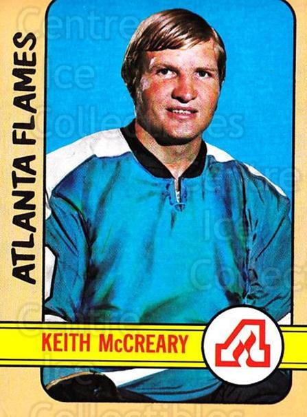 1972-73 Topps #27 Keith McCreary<br/>10 In Stock - $3.00 each - <a href=https://centericecollectibles.foxycart.com/cart?name=1972-73%20Topps%20%2327%20Keith%20McCreary...&quantity_max=10&price=$3.00&code=380547 class=foxycart> Buy it now! </a>