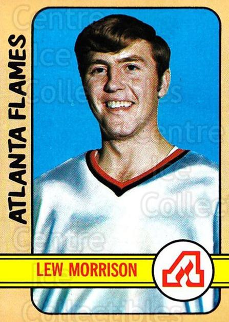 1972-73 Topps #58 Lew Morrison<br/>6 In Stock - $3.00 each - <a href=https://centericecollectibles.foxycart.com/cart?name=1972-73%20Topps%20%2358%20Lew%20Morrison...&quantity_max=6&price=$3.00&code=380578 class=foxycart> Buy it now! </a>