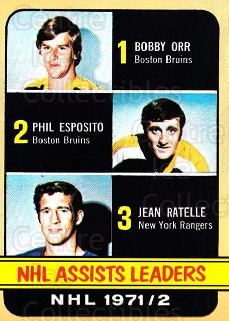 1972-73 Topps #62 Jean Ratelle, Phil Esposito, Bobby Orr<br/>1 In Stock - $15.00 each - <a href=https://centericecollectibles.foxycart.com/cart?name=1972-73%20Topps%20%2362%20Jean%20Ratelle,%20P...&price=$15.00&code=380582 class=foxycart> Buy it now! </a>