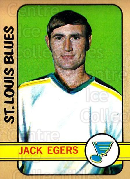 1972-73 Topps #147 Jack Egers<br/>3 In Stock - $3.00 each - <a href=https://centericecollectibles.foxycart.com/cart?name=1972-73%20Topps%20%23147%20Jack%20Egers...&quantity_max=3&price=$3.00&code=380667 class=foxycart> Buy it now! </a>
