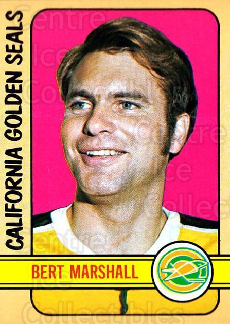 1972-73 Topps #162 Bert Marshall<br/>3 In Stock - $3.00 each - <a href=https://centericecollectibles.foxycart.com/cart?name=1972-73%20Topps%20%23162%20Bert%20Marshall...&quantity_max=3&price=$3.00&code=380682 class=foxycart> Buy it now! </a>