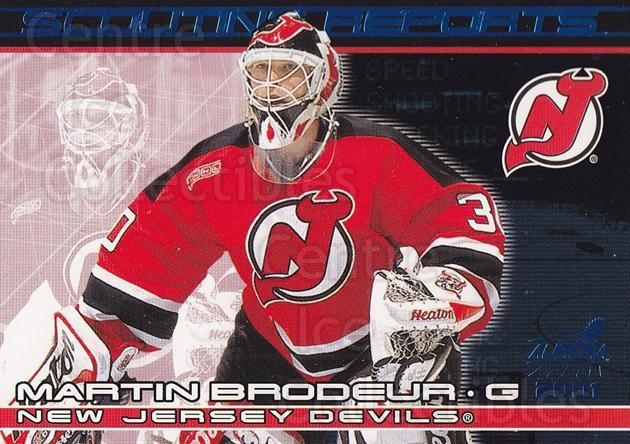 2000-01 Aurora Scouting Reports #13 Martin Brodeur<br/>1 In Stock - $3.00 each - <a href=https://centericecollectibles.foxycart.com/cart?name=2000-01%20Aurora%20Scouting%20Reports%20%2313%20Martin%20Brodeur...&price=$3.00&code=380776 class=foxycart> Buy it now! </a>