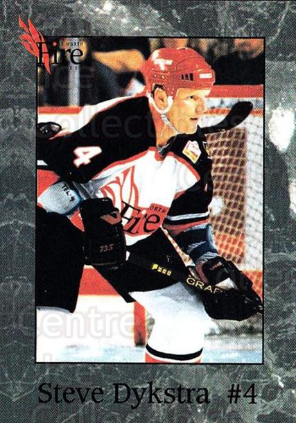 1995-96 Fort Worth Fire #5 Steve Dykstra<br/>3 In Stock - $3.00 each - <a href=https://centericecollectibles.foxycart.com/cart?name=1995-96%20Fort%20Worth%20Fire%20%235%20Steve%20Dykstra...&quantity_max=3&price=$3.00&code=38147 class=foxycart> Buy it now! </a>