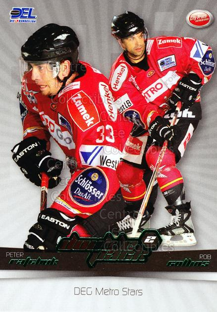 2007-08 German DEL Doublepack #4 Peter Ratchuk, Rob Collins<br/>2 In Stock - $3.00 each - <a href=https://centericecollectibles.foxycart.com/cart?name=2007-08%20German%20DEL%20Doublepack%20%234%20Peter%20Ratchuk,%20...&quantity_max=2&price=$3.00&code=381556 class=foxycart> Buy it now! </a>