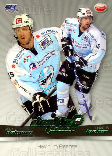 2007-08 German DEL Doublepack #6 Andy Delmore, Francois Fortier<br/>4 In Stock - $3.00 each - <a href=https://centericecollectibles.foxycart.com/cart?name=2007-08%20German%20DEL%20Doublepack%20%236%20Andy%20Delmore,%20F...&quantity_max=4&price=$3.00&code=381558 class=foxycart> Buy it now! </a>