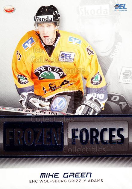 2009-10 German DEL Premium Frozen Forces #15 Mike Green (2)<br/>3 In Stock - $3.00 each - <a href=https://centericecollectibles.foxycart.com/cart?name=2009-10%20German%20DEL%20Premium%20Frozen%20Forces%20%2315%20Mike%20Green%20(2)...&quantity_max=3&price=$3.00&code=381607 class=foxycart> Buy it now! </a>