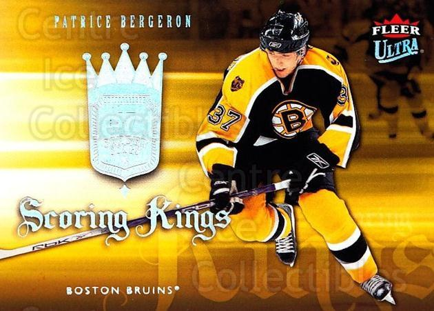 2006-07 Ultra Scoring Kings #22 Patrice Bergeron<br/>1 In Stock - $3.00 each - <a href=https://centericecollectibles.foxycart.com/cart?name=2006-07%20Ultra%20Scoring%20Kings%20%2322%20Patrice%20Bergero...&quantity_max=1&price=$3.00&code=381643 class=foxycart> Buy it now! </a>