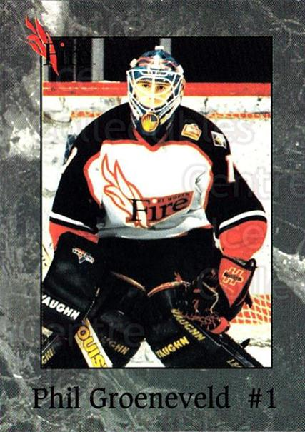 1995-96 Fort Worth Fire #7 Phil Groeneveld<br/>1 In Stock - $3.00 each - <a href=https://centericecollectibles.foxycart.com/cart?name=1995-96%20Fort%20Worth%20Fire%20%237%20Phil%20Groeneveld...&quantity_max=1&price=$3.00&code=38167 class=foxycart> Buy it now! </a>