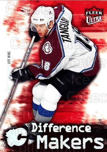 2006-07 Ultra Difference Makers #9 Alex Tanguay<br/>3 In Stock - $2.00 each - <a href=https://centericecollectibles.foxycart.com/cart?name=2006-07%20Ultra%20Difference%20Makers%20%239%20Alex%20Tanguay...&quantity_max=3&price=$2.00&code=381690 class=foxycart> Buy it now! </a>