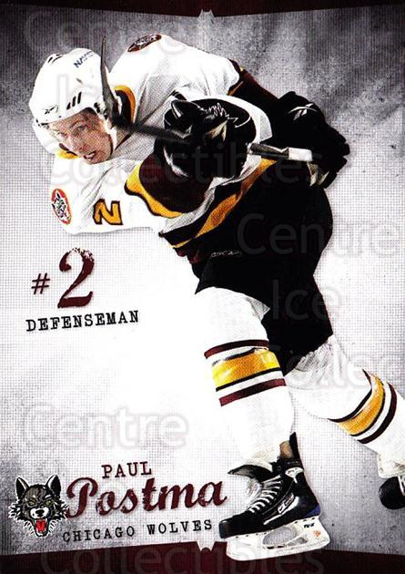 2009-10 Chicago Wolves #1 Paul Postma<br/>3 In Stock - $3.00 each - <a href=https://centericecollectibles.foxycart.com/cart?name=2009-10%20Chicago%20Wolves%20%231%20Paul%20Postma...&quantity_max=3&price=$3.00&code=381808 class=foxycart> Buy it now! </a>