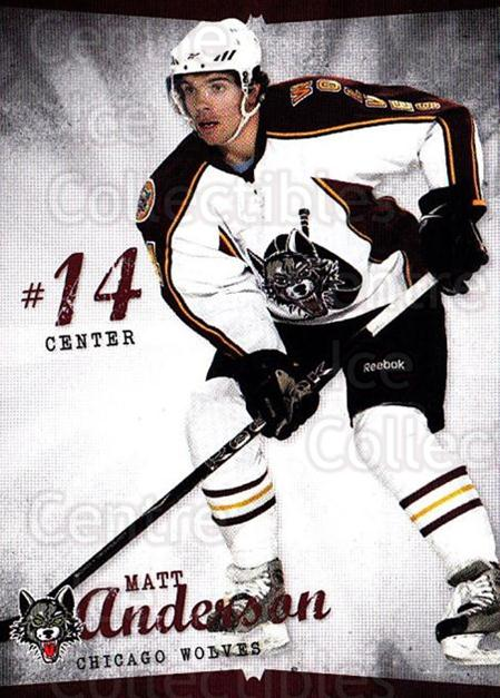 2009-10 Chicago Wolves #12 Matt Anderson<br/>1 In Stock - $3.00 each - <a href=https://centericecollectibles.foxycart.com/cart?name=2009-10%20Chicago%20Wolves%20%2312%20Matt%20Anderson...&quantity_max=1&price=$3.00&code=381819 class=foxycart> Buy it now! </a>