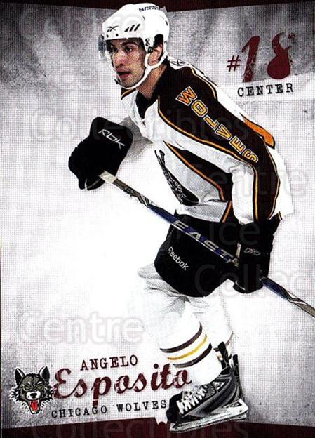 2009-10 Chicago Wolves #14 Angelo Esposito<br/>1 In Stock - $3.00 each - <a href=https://centericecollectibles.foxycart.com/cart?name=2009-10%20Chicago%20Wolves%20%2314%20Angelo%20Esposito...&quantity_max=1&price=$3.00&code=381821 class=foxycart> Buy it now! </a>