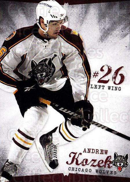 2009-10 Chicago Wolves #21 Andrew Kozek<br/>1 In Stock - $3.00 each - <a href=https://centericecollectibles.foxycart.com/cart?name=2009-10%20Chicago%20Wolves%20%2321%20Andrew%20Kozek...&quantity_max=1&price=$3.00&code=381828 class=foxycart> Buy it now! </a>
