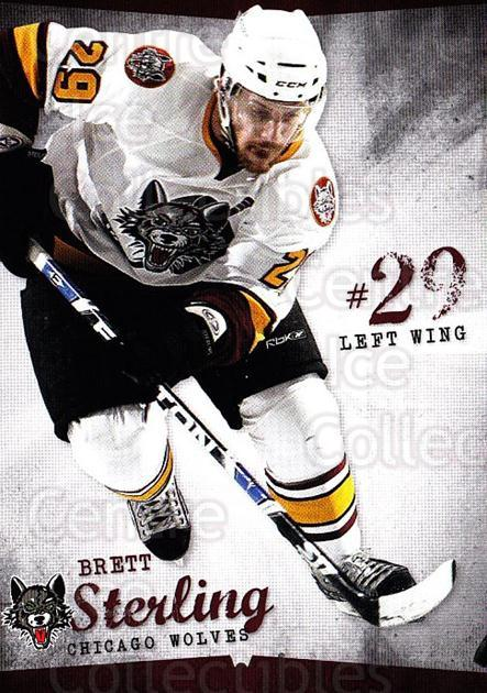 2009-10 Chicago Wolves #24 Brett Sterling<br/>3 In Stock - $3.00 each - <a href=https://centericecollectibles.foxycart.com/cart?name=2009-10%20Chicago%20Wolves%20%2324%20Brett%20Sterling...&quantity_max=3&price=$3.00&code=381831 class=foxycart> Buy it now! </a>