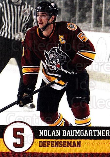 2011-12 Chicago Wolves #4 Nolan Baumgartner<br/>4 In Stock - $3.00 each - <a href=https://centericecollectibles.foxycart.com/cart?name=2011-12%20Chicago%20Wolves%20%234%20Nolan%20Baumgartn...&quantity_max=4&price=$3.00&code=381844 class=foxycart> Buy it now! </a>