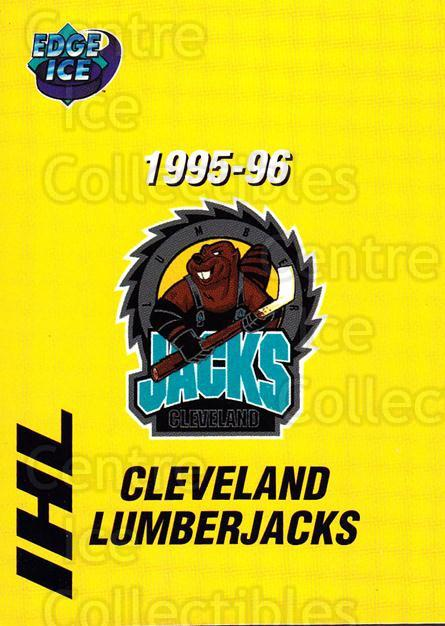 1995-96 Cleveland Lumberjacks #25 Header Card, Checklist<br/>5 In Stock - $3.00 each - <a href=https://centericecollectibles.foxycart.com/cart?name=1995-96%20Cleveland%20Lumberjacks%20%2325%20Header%20Card,%20Ch...&price=$3.00&code=38211 class=foxycart> Buy it now! </a>