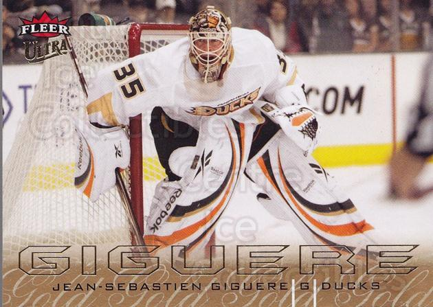 2009-10 Ultra Gold Medallion #5 Jean-Sebastien Giguere<br/>1 In Stock - $2.00 each - <a href=https://centericecollectibles.foxycart.com/cart?name=2009-10%20Ultra%20Gold%20Medallion%20%235%20Jean-Sebastien%20...&quantity_max=1&price=$2.00&code=382147 class=foxycart> Buy it now! </a>