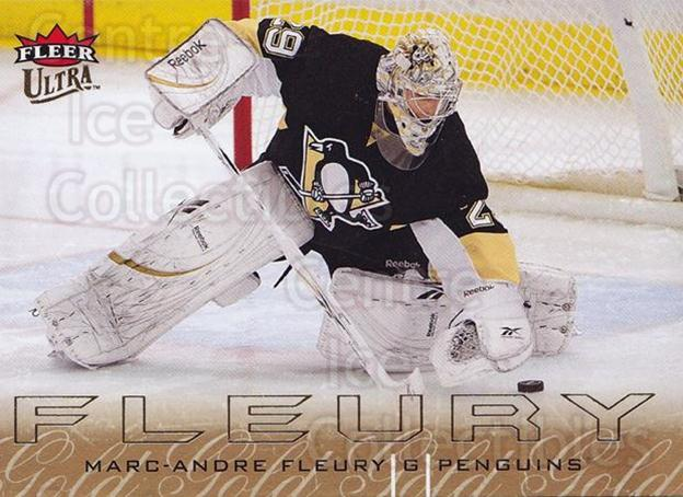 2009-10 Ultra Gold Medallion #119 Marc-Andre Fleury<br/>2 In Stock - $3.00 each - <a href=https://centericecollectibles.foxycart.com/cart?name=2009-10%20Ultra%20Gold%20Medallion%20%23119%20Marc-Andre%20Fleu...&quantity_max=2&price=$3.00&code=382261 class=foxycart> Buy it now! </a>