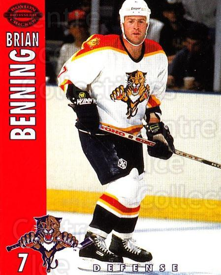1994-95 Florida Panthers Boston Market #3 Brian Benning<br/>6 In Stock - $3.00 each - <a href=https://centericecollectibles.foxycart.com/cart?name=1994-95%20Florida%20Panthers%20Boston%20Market%20%233%20Brian%20Benning...&quantity_max=6&price=$3.00&code=382460 class=foxycart> Buy it now! </a>