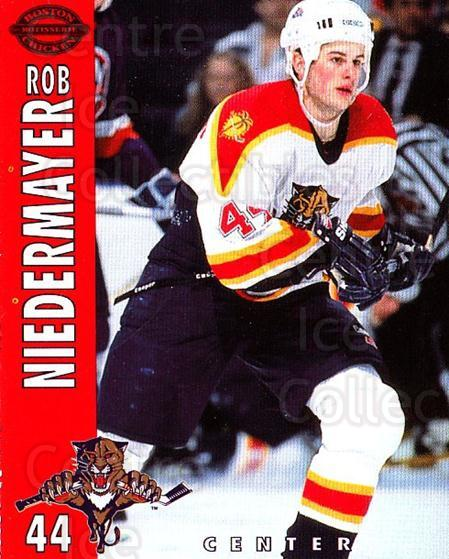 1994-95 Florida Panthers Boston Market #19 Rob Niedermayer<br/>5 In Stock - $3.00 each - <a href=https://centericecollectibles.foxycart.com/cart?name=1994-95%20Florida%20Panthers%20Boston%20Market%20%2319%20Rob%20Niedermayer...&quantity_max=5&price=$3.00&code=382476 class=foxycart> Buy it now! </a>