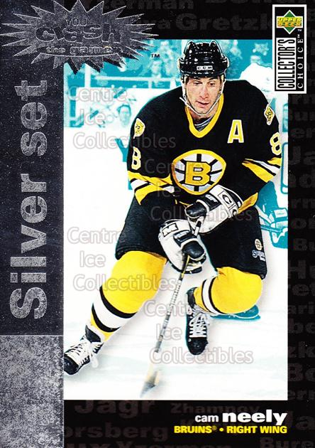1995-96 Collectors Choice Crash the Game Silver Redeemed #14 Cam Neely<br/>15 In Stock - $1.00 each - <a href=https://centericecollectibles.foxycart.com/cart?name=1995-96%20Collectors%20Choice%20Crash%20the%20Game%20Silver%20Redeemed%20%2314%20Cam%20Neely...&quantity_max=15&price=$1.00&code=38252 class=foxycart> Buy it now! </a>