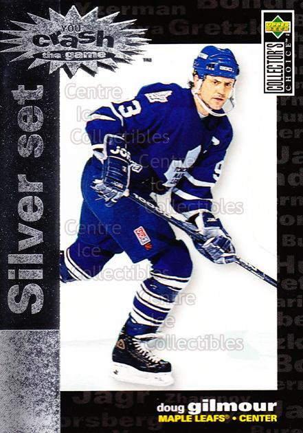 1995-96 Collectors Choice Crash the Game Silver Redeemed #21 Doug Gilmour<br/>12 In Stock - $1.00 each - <a href=https://centericecollectibles.foxycart.com/cart?name=1995-96%20Collectors%20Choice%20Crash%20the%20Game%20Silver%20Redeemed%20%2321%20Doug%20Gilmour...&quantity_max=12&price=$1.00&code=38258 class=foxycart> Buy it now! </a>