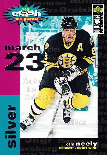 1995-96 Collectors Choice Crash The Game #14B Cam Neely<br/>5 In Stock - $1.00 each - <a href=https://centericecollectibles.foxycart.com/cart?name=1995-96%20Collectors%20Choice%20Crash%20The%20Game%20%2314B%20Cam%20Neely...&quantity_max=5&price=$1.00&code=38280 class=foxycart> Buy it now! </a>