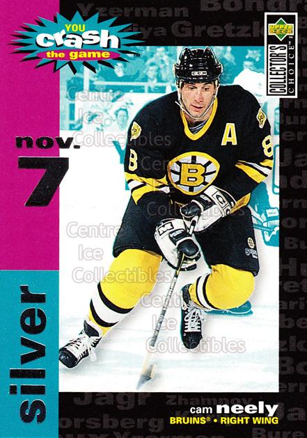 1995-96 Collectors Choice Crash The Game #14C Cam Neely<br/>6 In Stock - $1.00 each - <a href=https://centericecollectibles.foxycart.com/cart?name=1995-96%20Collectors%20Choice%20Crash%20The%20Game%20%2314C%20Cam%20Neely...&quantity_max=6&price=$1.00&code=38281 class=foxycart> Buy it now! </a>