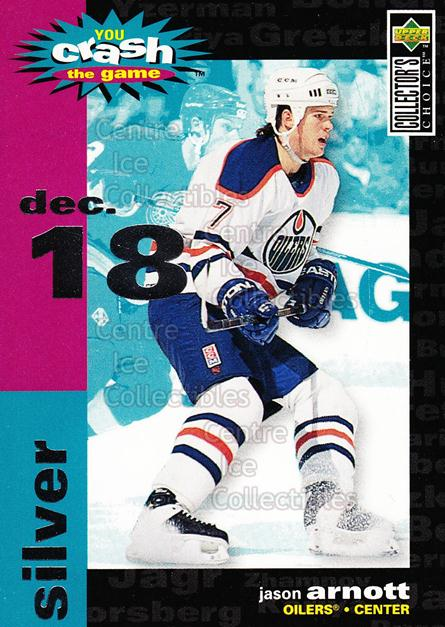 1995-96 Collectors Choice Crash The Game #19C Jason Arnott<br/>3 In Stock - $1.00 each - <a href=https://centericecollectibles.foxycart.com/cart?name=1995-96%20Collectors%20Choice%20Crash%20The%20Game%20%2319C%20Jason%20Arnott...&quantity_max=3&price=$1.00&code=38296 class=foxycart> Buy it now! </a>