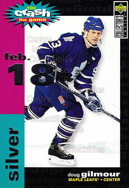 1995-96 Collectors Choice Crash The Game #21B Doug Gilmour<br/>1 In Stock - $1.00 each - <a href=https://centericecollectibles.foxycart.com/cart?name=1995-96%20Collectors%20Choice%20Crash%20The%20Game%20%2321B%20Doug%20Gilmour...&quantity_max=1&price=$1.00&code=38298 class=foxycart> Buy it now! </a>