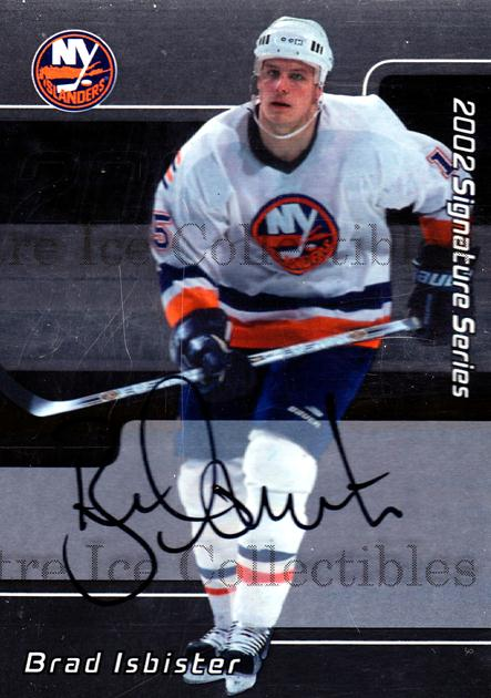 2001-02 BAP Signature Series Auto #81 Brad Isbister<br/>1 In Stock - $3.00 each - <a href=https://centericecollectibles.foxycart.com/cart?name=2001-02%20BAP%20Signature%20Series%20Auto%20%2381%20Brad%20Isbister...&quantity_max=1&price=$3.00&code=383090 class=foxycart> Buy it now! </a>