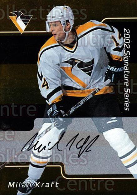 2001-02 BAP Signature Series Auto Gold #167 Milan Kraft<br/>1 In Stock - $5.00 each - <a href=https://centericecollectibles.foxycart.com/cart?name=2001-02%20BAP%20Signature%20Series%20Auto%20Gold%20%23167%20Milan%20Kraft...&quantity_max=1&price=$5.00&code=383316 class=foxycart> Buy it now! </a>