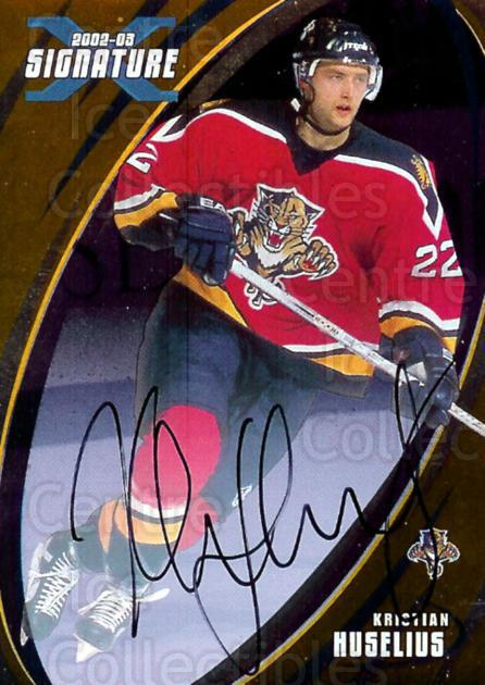 2002-03 BAP Signature Series Auto Gold #106 Kristian Huselius<br/>1 In Stock - $5.00 each - <a href=https://centericecollectibles.foxycart.com/cart?name=2002-03%20BAP%20Signature%20Series%20Auto%20Gold%20%23106%20Kristian%20Huseli...&quantity_max=1&price=$5.00&code=383889 class=foxycart> Buy it now! </a>