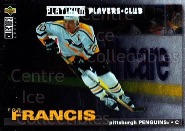 1995-96 Collectors Choice Players Club Platinum #200 Ron Francis<br/>5 In Stock - $3.00 each - <a href=https://centericecollectibles.foxycart.com/cart?name=1995-96%20Collectors%20Choice%20Players%20Club%20Platinum%20%23200%20Ron%20Francis...&quantity_max=5&price=$3.00&code=38425 class=foxycart> Buy it now! </a>