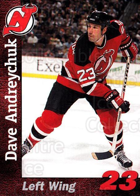 1998-99 New Jersey Devils Team Issue #1 Dave Andreychuk<br/>1 In Stock - $3.00 each - <a href=https://centericecollectibles.foxycart.com/cart?name=1998-99%20New%20Jersey%20Devils%20Team%20Issue%20%231%20Dave%20Andreychuk...&quantity_max=1&price=$3.00&code=384408 class=foxycart> Buy it now! </a>