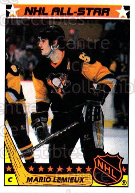 1987-88 Topps Stickers Insert #11 Mario Lemieux<br/>1 In Stock - $5.00 each - <a href=https://centericecollectibles.foxycart.com/cart?name=1987-88%20Topps%20Stickers%20Insert%20%2311%20Mario%20Lemieux...&price=$5.00&code=384577 class=foxycart> Buy it now! </a>