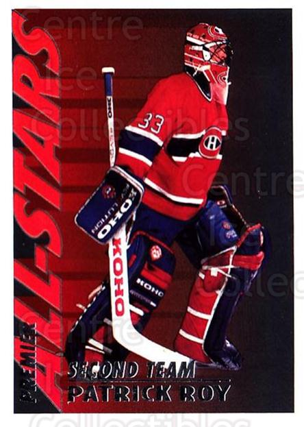1994-95 OPC Premier #125 Patrick Roy<br/>2 In Stock - $2.00 each - <a href=https://centericecollectibles.foxycart.com/cart?name=1994-95%20OPC%20Premier%20%23125%20Patrick%20Roy...&price=$2.00&code=384670 class=foxycart> Buy it now! </a>