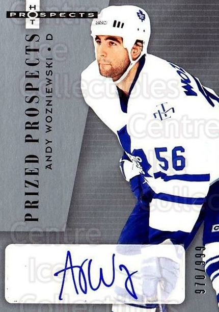 2005-06 Hot Prospects #216 Andrew Wozniewski<br/>1 In Stock - $10.00 each - <a href=https://centericecollectibles.foxycart.com/cart?name=2005-06%20Hot%20Prospects%20%23216%20Andrew%20Wozniews...&quantity_max=1&price=$10.00&code=384715 class=foxycart> Buy it now! </a>