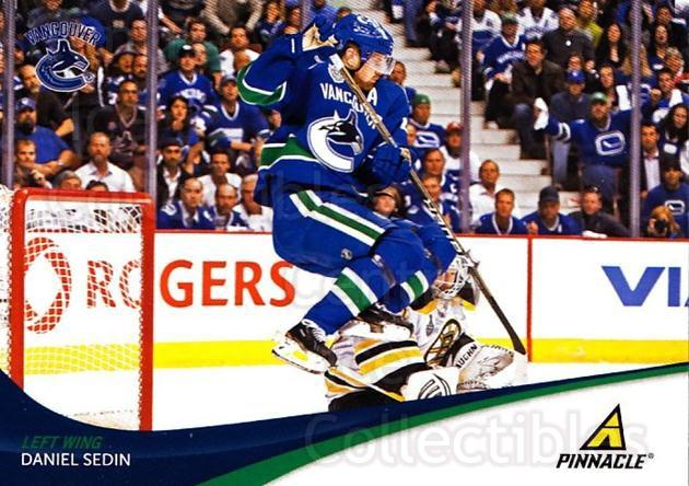2011-12 Pinnacle #22 Daniel Sedin<br/>4 In Stock - $1.00 each - <a href=https://centericecollectibles.foxycart.com/cart?name=2011-12%20Pinnacle%20%2322%20Daniel%20Sedin...&quantity_max=4&price=$1.00&code=384939 class=foxycart> Buy it now! </a>
