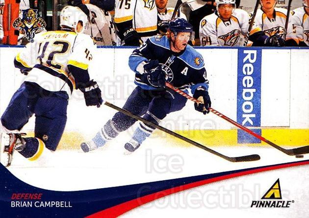 2011-12 Pinnacle #151 Brian Campbell<br/>4 In Stock - $1.00 each - <a href=https://centericecollectibles.foxycart.com/cart?name=2011-12%20Pinnacle%20%23151%20Brian%20Campbell...&quantity_max=4&price=$1.00&code=385068 class=foxycart> Buy it now! </a>